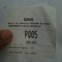 Photo taken at BBVA Oficina by Ese pepino oé on 4/30/2012