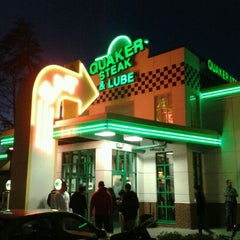 Photo taken at Quaker Steak & Lube® by Brian H. on 1/31/2012