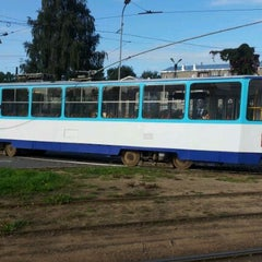 "Photo taken at 7. tramvajs | Ausekļa iela - Tirdzniecības centrs ""Dole"" by Toms A. on 9/8/2011"