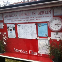 Photo taken at American Church in Berlin by Jeroen on 2/17/2012