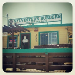Photo taken at Sylvesters Burgers by Brittany S. on 8/6/2012