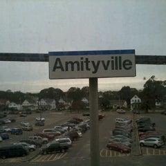 Photo taken at LIRR - Amityville Station by Jason M. on 10/12/2011