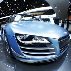 Photo taken at Audi Stand at Detroit Auto Show by Jon S. on 1/15/2012