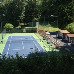 Photo taken at SPCC Tennis Courts by Felice L. on 5/26/2012