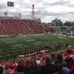 Photo taken at McMahon Stadium by Bill B. on 9/3/2012