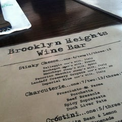 Photo taken at Brooklyn Heights Wine Bar by Zoe on 8/6/2012