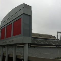 Photo taken at Sanford Stadium by Josh M. on 4/28/2012