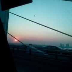 Photo taken at สะพานพระราม 9 (Rama IX Bridge) by Fahsai ^. on 2/8/2012