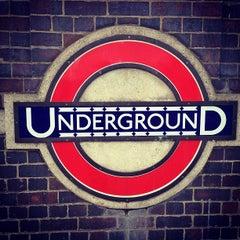 Photo taken at Arnos Grove London Underground Station by Mehrdad A. on 2/20/2012