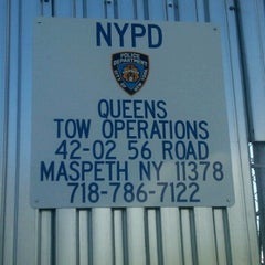 Photo taken at NYPD Queens Tow Operations by Pete C. on 4/12/2012