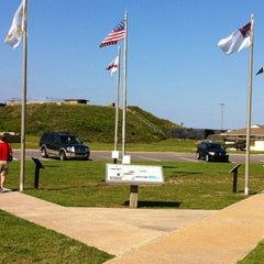 Photo taken at Fort Morgan State Historic Site by Lee W. on 4/10/2012