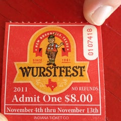 Photo taken at Wurstfest by Neetu M. on 11/12/2011