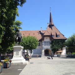 Photo taken at Place Favre by Annie V. on 8/1/2012