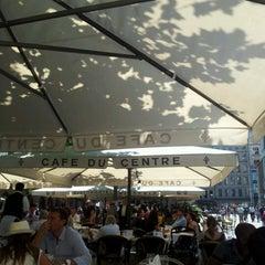 Photo taken at Café du Centre by Dries v. on 7/26/2012