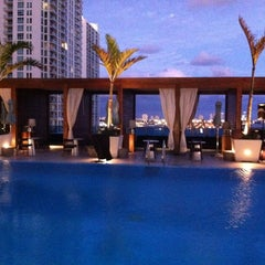 Photo taken at Epic Rooftop Pool by James C. on 2/13/2012