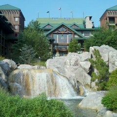 Photo taken at Disney's Wilderness Lodge by Shannon M. on 8/28/2011