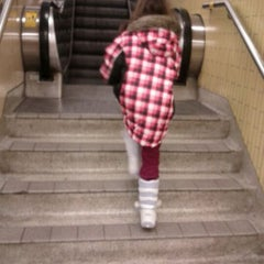 Photo taken at Christie Subway Station by Terea 🐰 D. on 1/10/2012