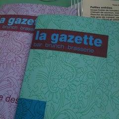Photo taken at La Gazette by Elsa J. on 9/24/2011