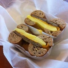 Photo taken at Bruegger's Bagels by Steve S. on 12/17/2011