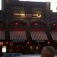 Photo taken at Gaslamp Strip Club Restaurant by Emily M. on 7/16/2012