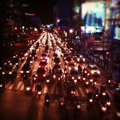 Photo taken at แยกอโศก (Asok Intersection) by Sorn Savisith |. on 11/9/2011
