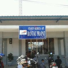 Photo taken at Stasiun Rantauprapat by Muhammad Habibi L. on 8/24/2012