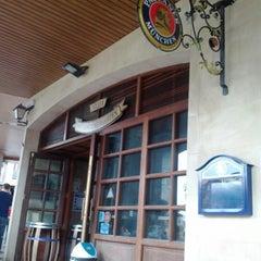 Photo taken at Völker Paulaner Biergarten by Alex V. on 6/23/2012