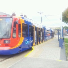 Photo taken at Malin Bridge Tram Stop by Mike G. on 9/19/2011