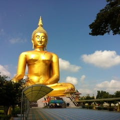 Photo taken at วัดม่วง (Wat Muang) by Goffy P. on 4/13/2012