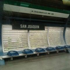 Photo taken at Metro San Joaquín by Constanza C. on 11/7/2011