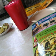 Photo taken at Taquería Los Comales by Heather G. on 4/10/2012