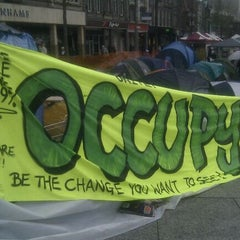 Photo taken at Occupy Notts by Geoff E. on 12/16/2011