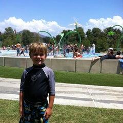 Photo taken at Lake Skinner Splash Pad by Candi N. on 8/4/2012