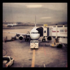 Photo taken at Gate D39 by Audunn J. on 4/16/2012