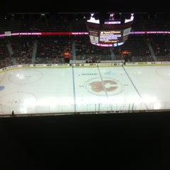 Photo taken at Scotiabank Saddledome by Sharon J. on 2/26/2012