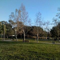 Photo taken at Pan Pacific Park by Sasha M. on 3/8/2012