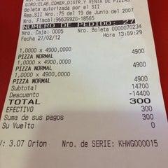 Photo taken at Telepizza by Ignacio B. on 2/27/2012