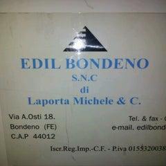 Photo taken at Edil Bondeno S.n.c. by Andrea F. on 7/22/2012