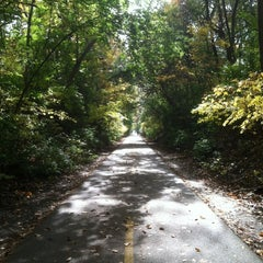 Photo taken at Capital Crescent Trail - Bethesda by Pam B. on 11/3/2011