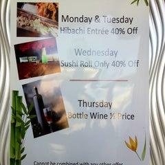 Photo taken at Kochi Japan Hibachi & Grill by TY KU S. on 3/29/2012