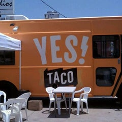 Photo taken at YES! Taco at SiNaCa Studios by Jayne B. on 7/7/2011