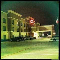 Photo taken at Hampton Inn & Suites Houston Rosenberg by Shad on 1/1/2012