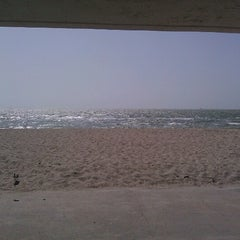 Photo taken at Beach by the USS Lexington by Aaron K. on 8/15/2012
