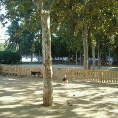 Photo taken at Parc Gandhi by Alberto S. on 8/30/2011