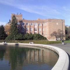 Photo taken at UW: Mary Gates Hall by Aaron E. on 12/12/2011