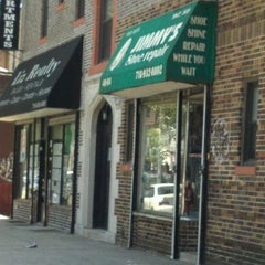 Photo taken at Jimmy's Shoe Repair by Cris G. on 5/18/2012