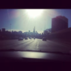 Photo taken at Kennedy Expressway by Hannah M. on 2/19/2012
