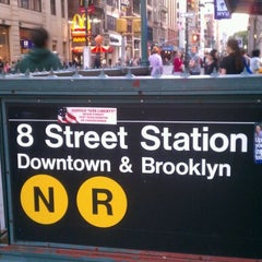 Photo taken at MTA Subway - 8th St/NYU (N/R) by Janice N. on 9/18/2011