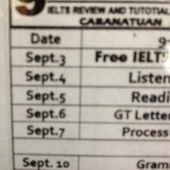 Photo taken at Niner 9.0 IELTS Review Center by TJ P. on 9/4/2012