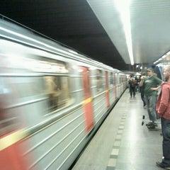 Photo taken at Metro =C= Nádraží Holešovice by Zdeněk M. on 5/8/2012